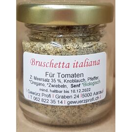 Bruschetta italiana Mini Glas
